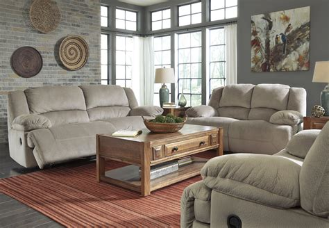 cheap 3 piece living room sets 1 bedroom apartments toletta 2 piece reclining power living room set in granite