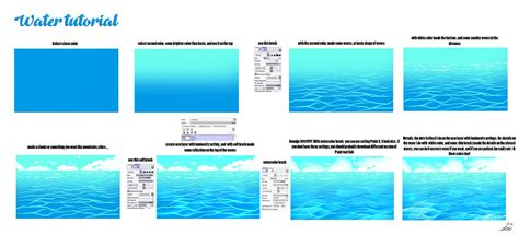 how to color water easy way to paint a water by ryky on deviantart