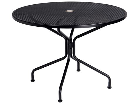 Rod Iron Patio Table Woodard Wrought Iron 42 Round Umbrella Table 4 Spoke 190229