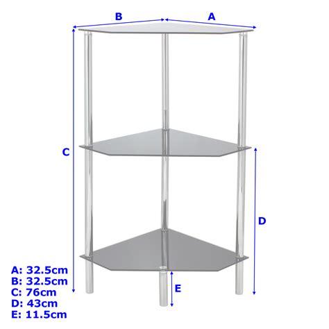 hartleys clear glass 5 tier side table display shelf unit lounge living room ebay hartleys 3 tier clear glass angled corner side end l table shelf display unit ebay