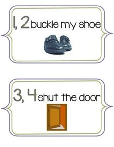 One Two Buckle My Shoe Coloring Page