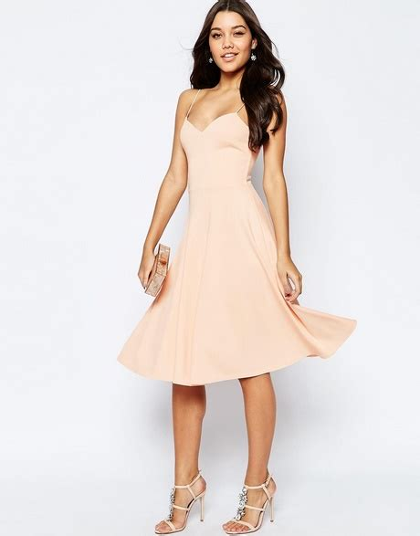Overlayed Strappy Midi Dress L midi skater dress