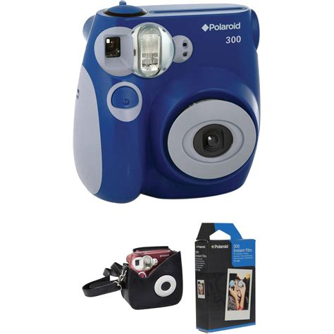 polaroid 300 instant blue polaroid 300 instant with carrying and