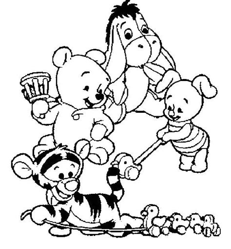 baby winnie the pooh friends 242 besten winnie puuh bilder auf coloring books