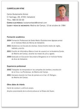 Modelo De Curriculum Vitae En Argentina Modelo De Curriculum Vitae Argentina