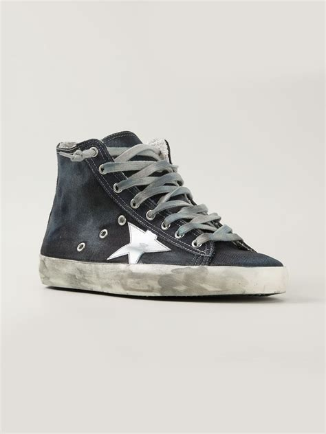 Sneakers Denim golden goose deluxe brand francy high top denim sneakers in blue for lyst