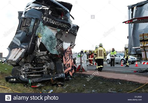truck crash deadly truck crash in germany stock photo royalty free