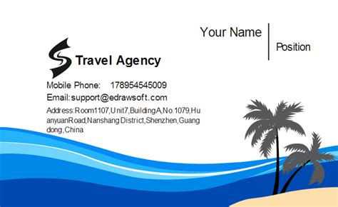 travels visiting card templates travel agency business card template