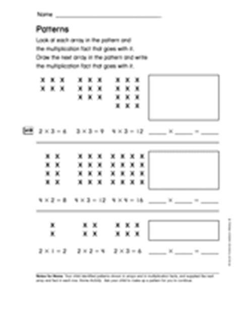 division pattern worksheet multiplication and division concepts patterns gr 2