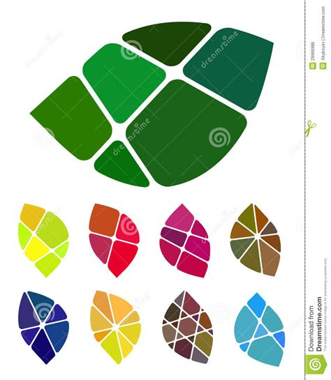 colorful logo design elements vector set design vector leaf logo element royalty free stock image