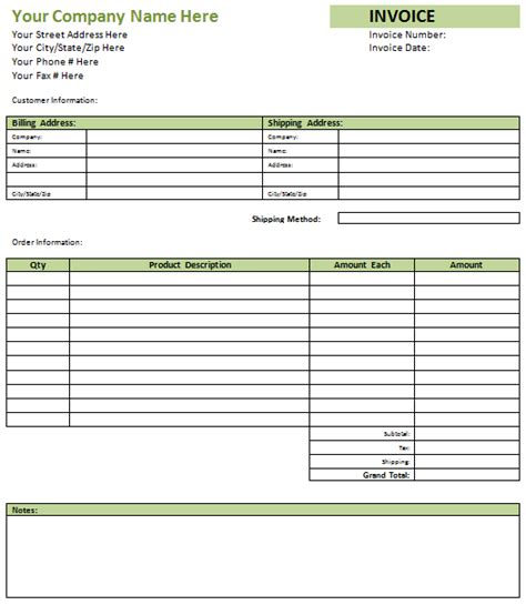 Blank Invoice Format Printable Invoice Template Free Blank Invoice Template