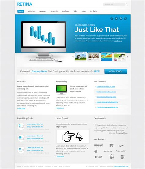 responsive template responsive website template website css templates