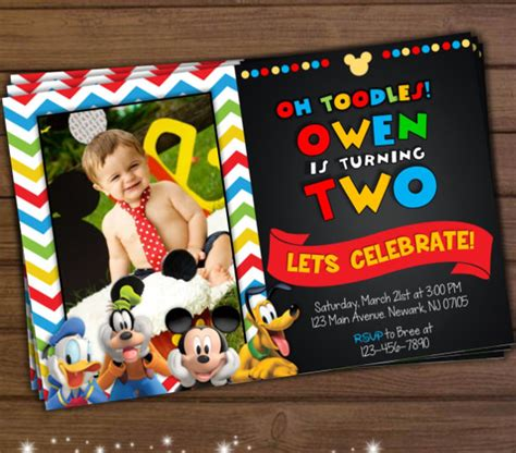 31 Mickey Mouse Invitation Templates Free Sle Exle Format Download Free Premium Mickey Mouse Clubhouse Birthday Invitations Template