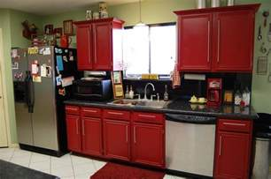 Red Kitchen Cabinets by Red Kitchen Cabinets On Modern Design Traba Homes