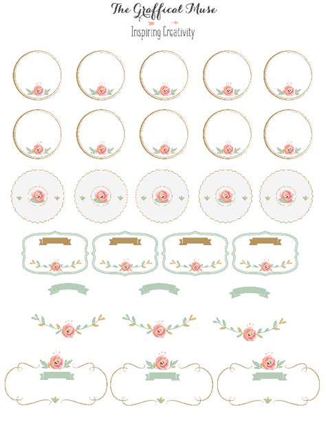 sticker label template free printable pink floral labels and stickers