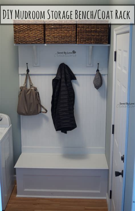 diy coat rack bench diy mudroom storage bench and coat rack