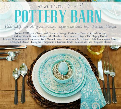 Where Can I Buy A Pottery Barn Gift Card - 300 pottery barn gift card giveaway who doesn t love pottery barn the happy housie