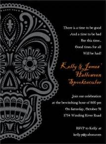 day of the dead black invitation day of the dead pint