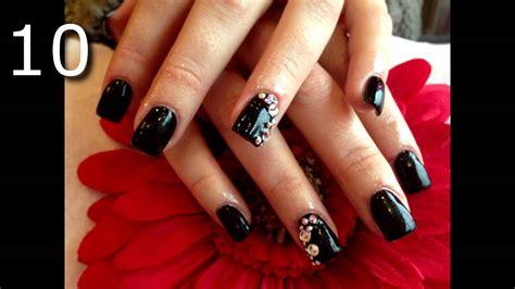 imagenes de uñas negras acrilicas las 20 mejores u 209 as acrilicas negras decoradas youtube