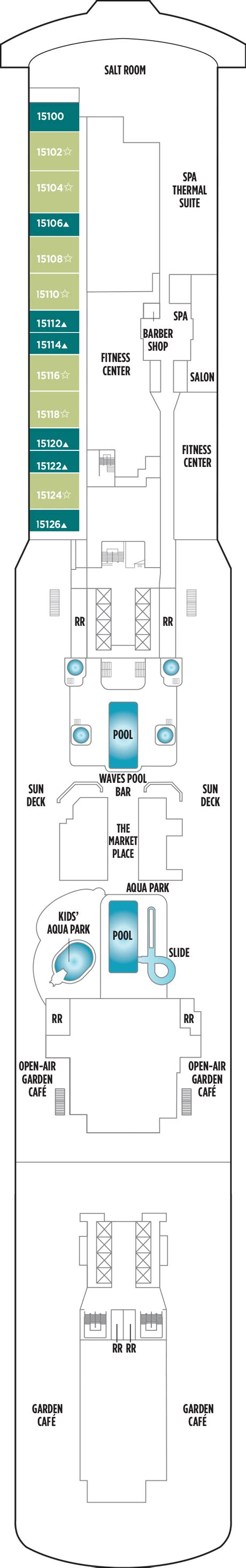 norwegian getaway floor plan norwegian getaway deck plans cruisekings