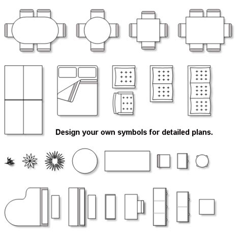 furniture icons for floor plans floor plan symbols clipart clipart suggest