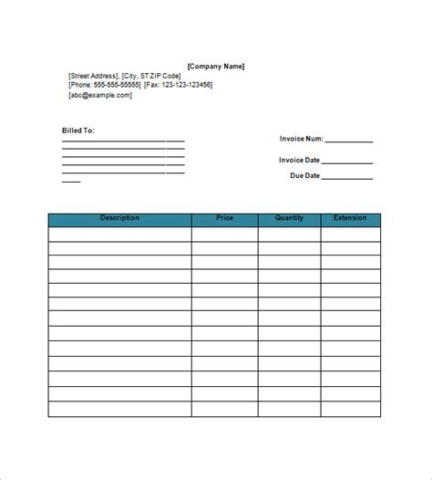invoice template for google docs free google invoice template