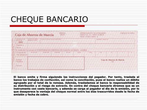 pagare conformado por el banco ppt el cheque powerpoint presentation id 228684
