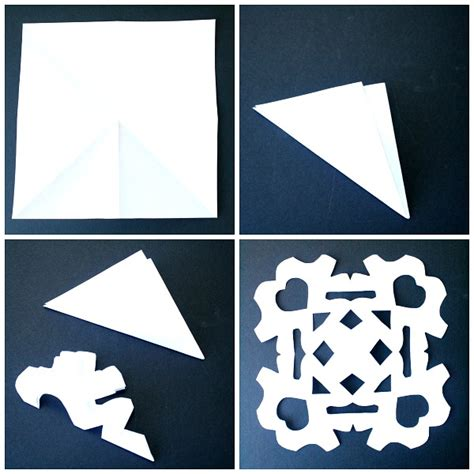 How To Make Paper Snowflakes For Step By Step - marble painted snowflake craft winter for