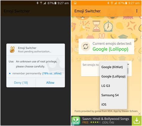 chagne emoji how to install lollipop emojis on samsung galaxy s6