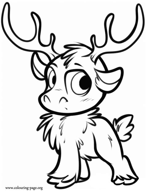 frozen coloring page frozen sven as a cub coloring page