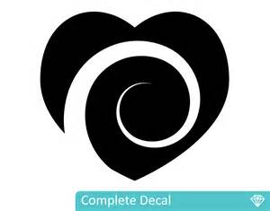 Custom Wall Art Stickers koru heart your decal shop nz designer wall art decals