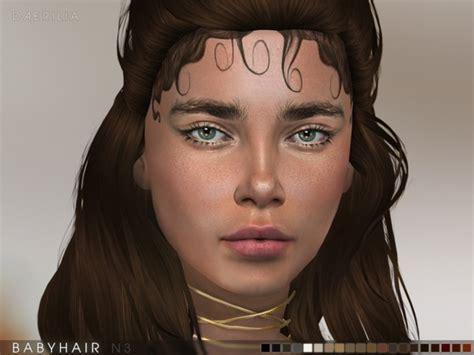 sims 4 baby hair edges daerilia babyhair n1 n4 update