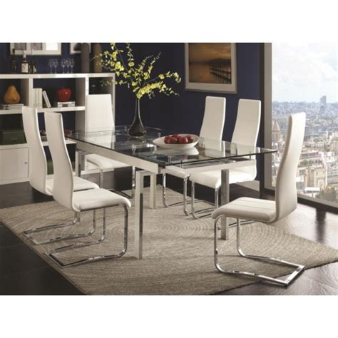 contemporary glass dining room sets contemporary 5pc dining room set side chairs 106281