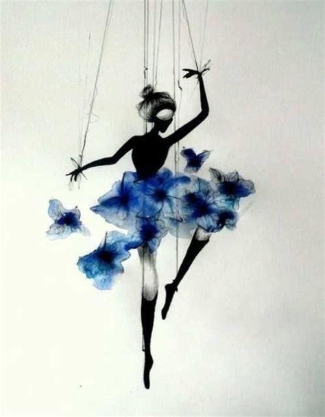 ink drawing of ballerina