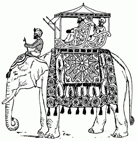 coloring pages indian elephant indian elephant coloring page coloring home