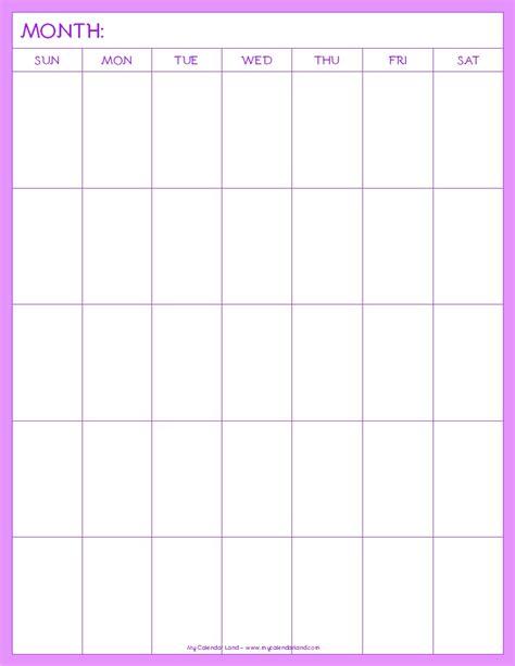 online blank calendar pages blank calendar printable my calendar land