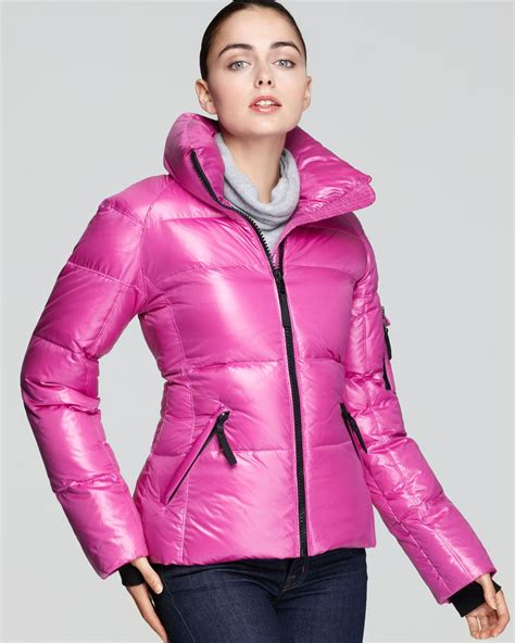 black cross dresser somerset new jersey sam freestyle down coat with stand collar in pink lyst