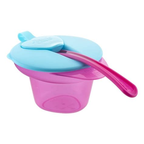 tommee tippee cool mash weaning bowl pink babymama