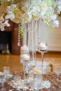 centerpieces with crystals white centerpiece garland centerpiece
