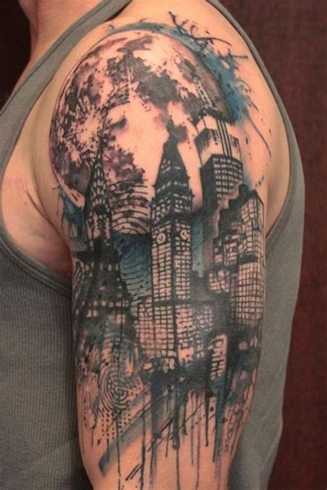skyline tattoos city skyline search work