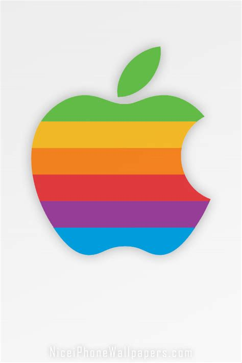 Apple Mac Brand Logo Iphone Wallpaper 4 4s 55s 5c 66s Plus classic apple rainbow logo iphone 4 4s wallpaper and