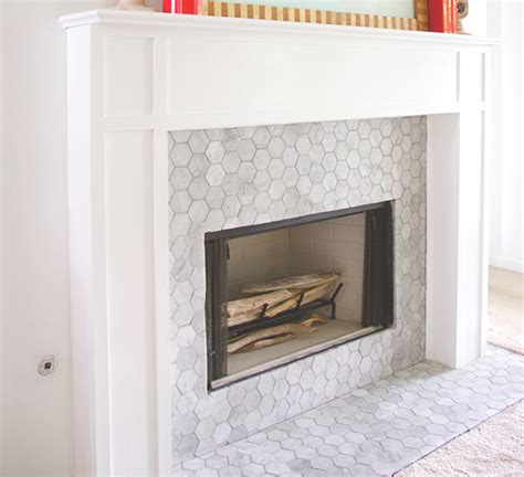 carrara bianco 3 hexagon honed fireplace the builder depot