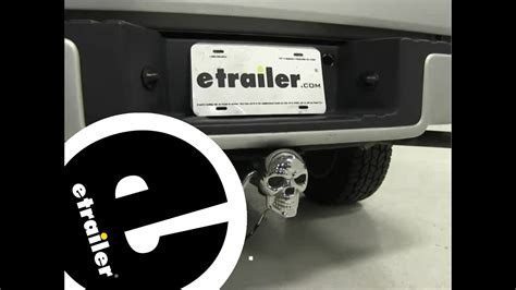 lighted trailer hitch covers reese skull lighted trailer hitch cover review etrailer