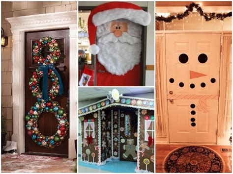 santas house of games xmas door decoration 23 winter door decor ideas find projects to do at home and arts and