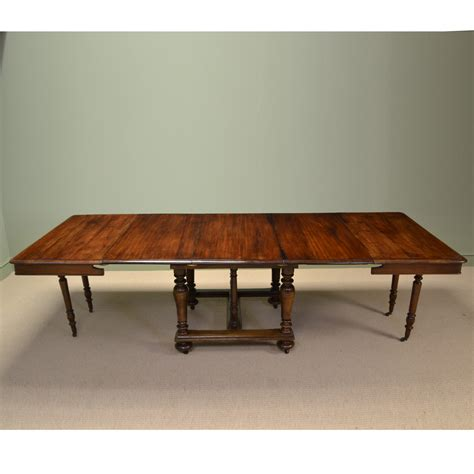 victorian solid french walnut antique extending dining
