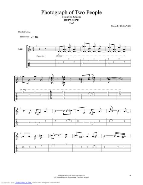 Wedding Bell Depapepe Tab Pdf by Hutarino Shasin Photograph Of Two Guitar Pro Tab By