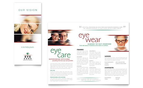 Optometrist Optician Brochure Template Word Publisher Microsoft Publisher Brochure Templates
