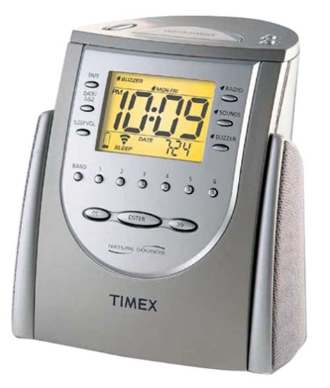 timex t309t alarm clock w am fm radio nature sounds w manual mint ebay
