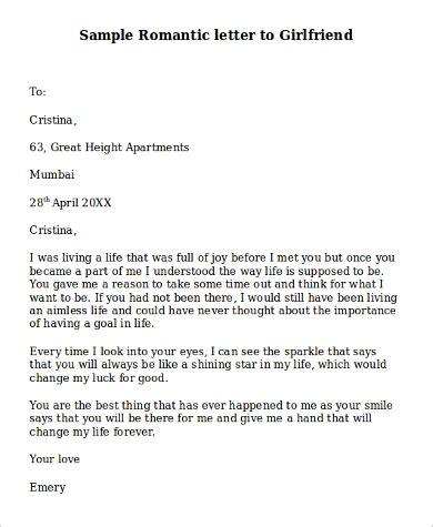 sample romantic love letter templates ms word
