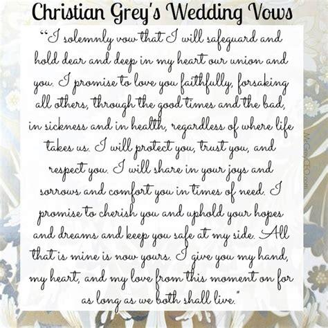 Wedding Vows Christian by Christian Grey S 3 Year Wedding Anniversary